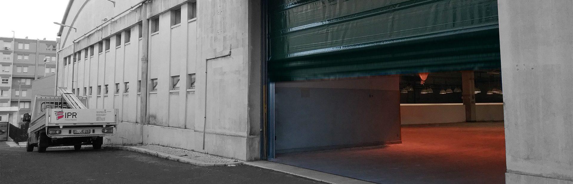 Porta rápida industrial dobrável (fold up) - IPR Belt