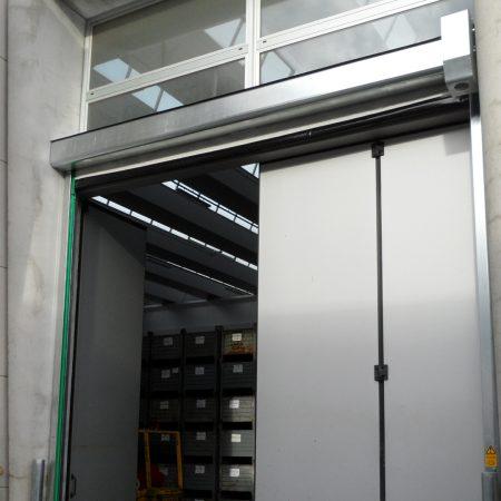 Porta em PVC enrolada