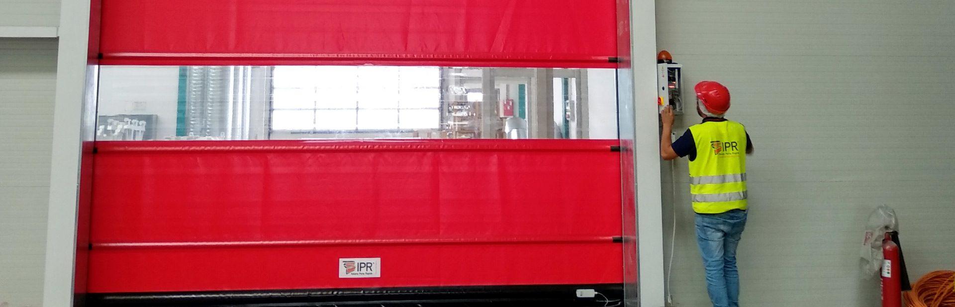 Montagem porta rápida IPR Portugal em Viana do Castelo